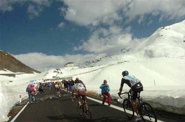 Thack ascends the Stelvio's south face in the 2012 Giro d'Italia