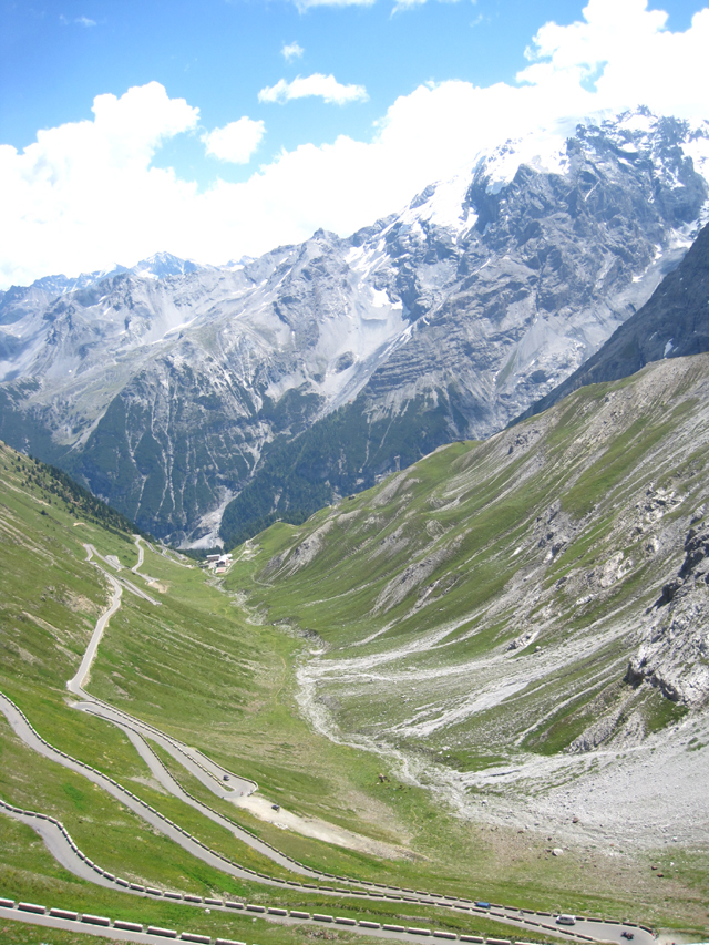 The Stelvio from the top