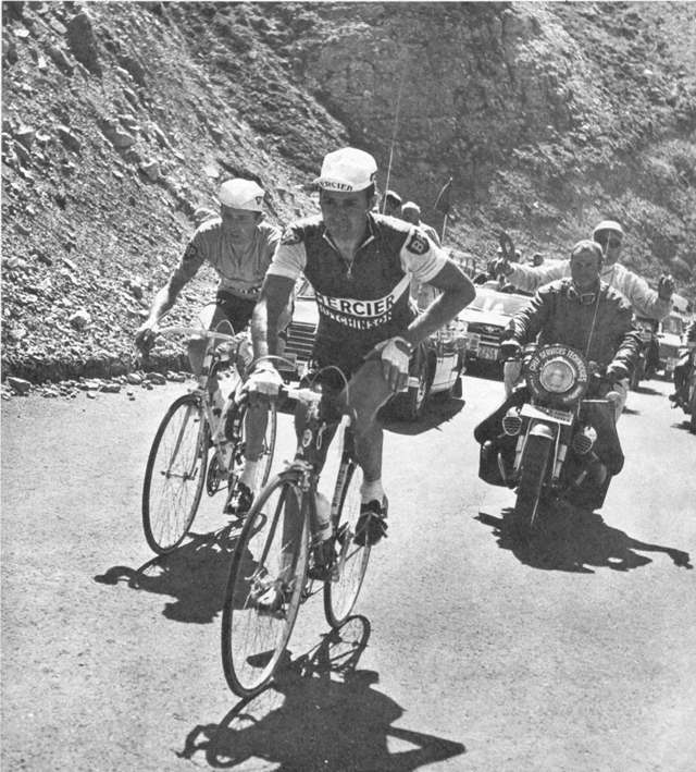 Rayond Poulidor and Roger Pingeon on the Galibier in 1967