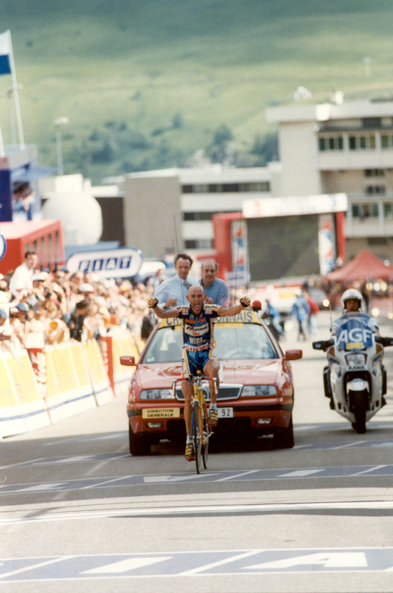 Marco Pantani wins stage13 of the 1997 Tour de France