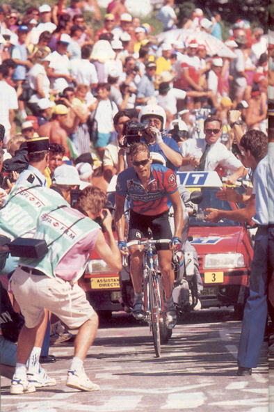 Anrew Hampsten on L'Alpe d'Huez