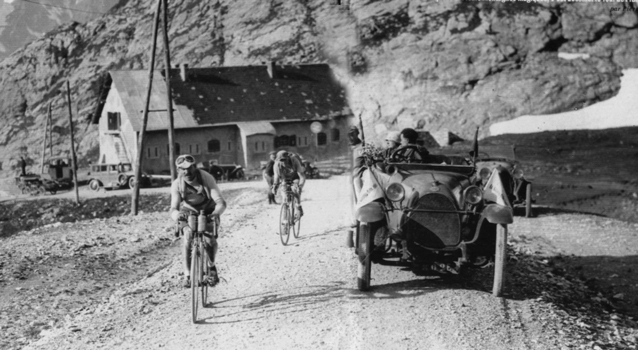 Leaders on the Galibier in 1920