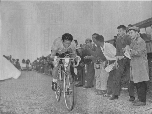 Gasone Nencini on the Peyresourde int the 1960 Tour de France