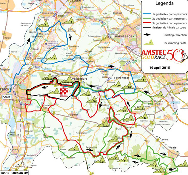 2015 Amstel Gold course map