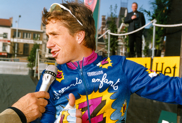 Greg LeMond at the start