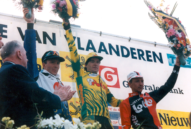 1994 Tour of Flanders podium