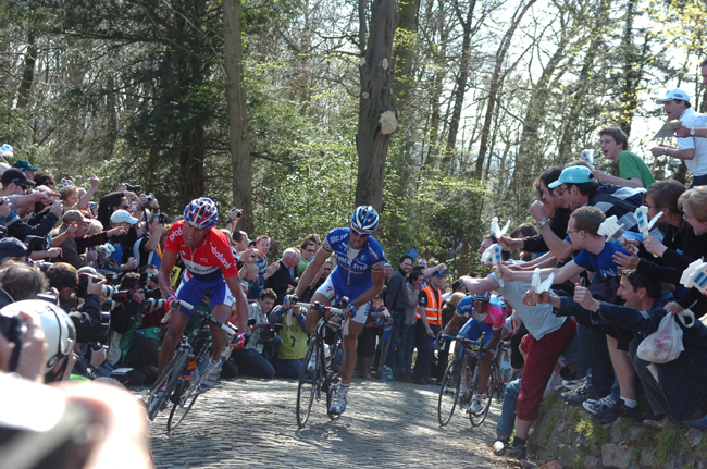 Michael Boogerd and Tom Boonen on the Grammont