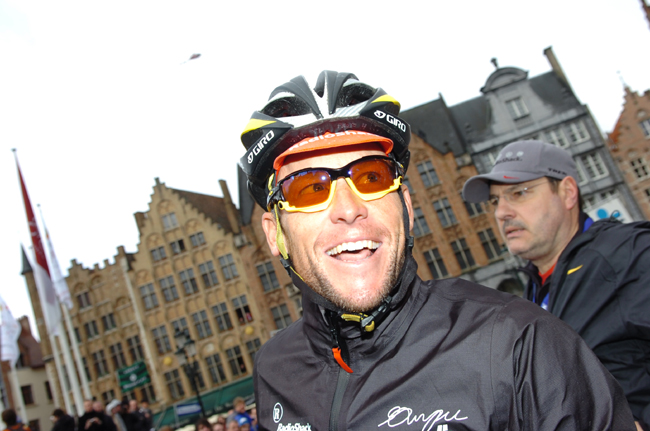 Lance Armstrong at the 2010 Tour of Flanders