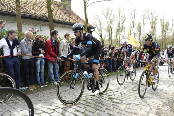 Braley Wiggins in this year's Tour of Flanders