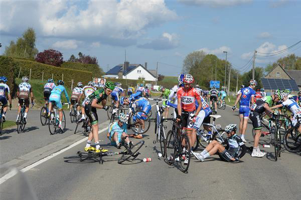 Riders get going after crash
