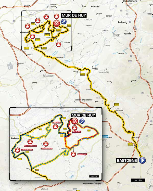 2014 Fleche Wallonne course map