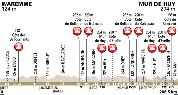 2015 Fleche Wallonne profile
