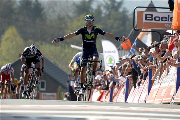 Alejandro Valverde wins the 2015 Fleche Wallonne