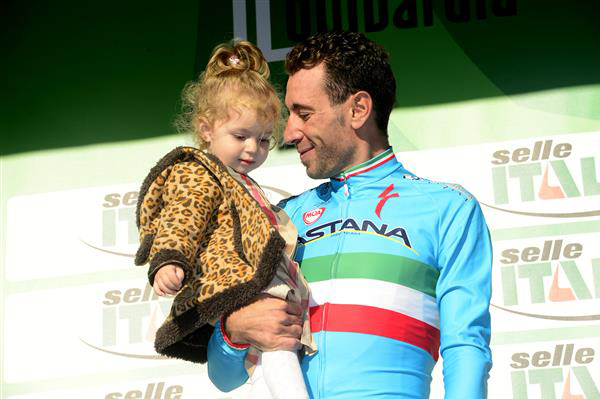 Nibali and his daughter