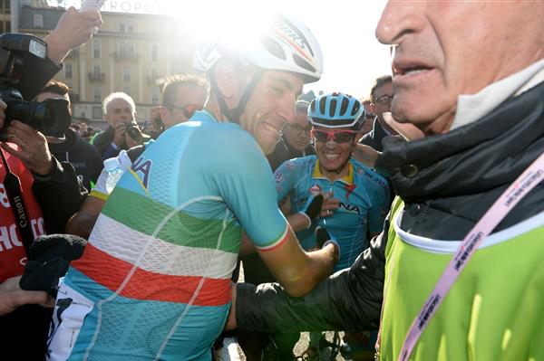 Nibali and teammate Diego Rosa