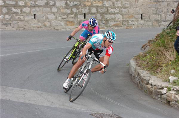 Philippe Gilbert and Michele Scarponi