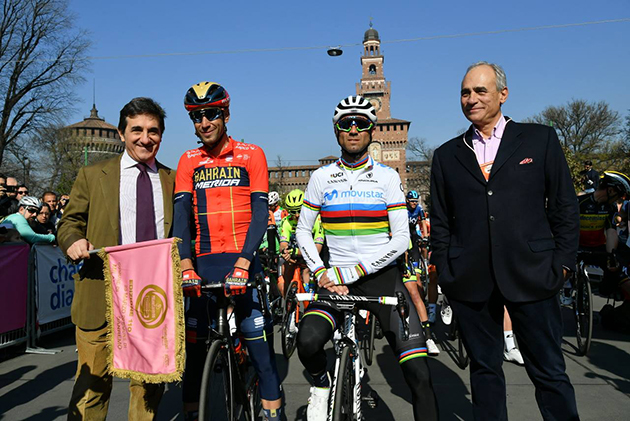 Vuncenzo Nibali and Alejandro Valverde