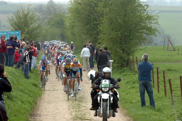 Riders on cobbles