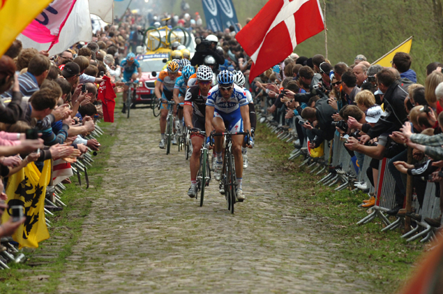 Maarten Wyants leads through the Arenberg Forest