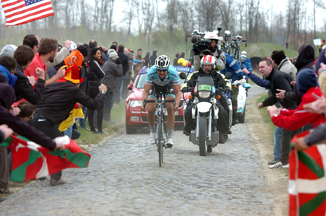 Tom Boonen on the Carrefour de l'Arbre sector