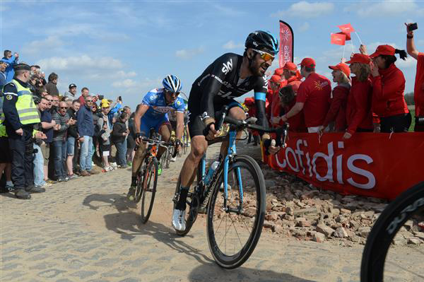 Bradley Wiggins at the 2015 Paris-Roubaix