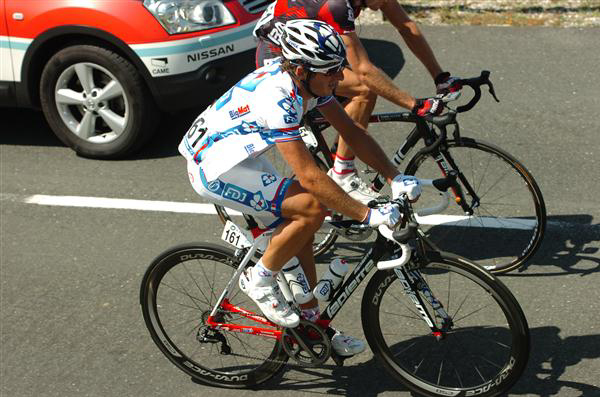 Pierrick Fedrigo not enjoying a climb