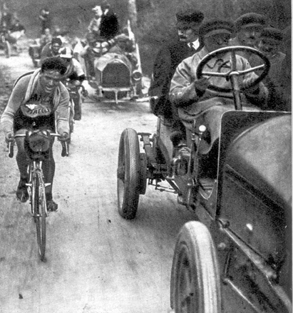 Racing in the 1914 Giro