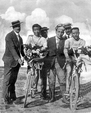 1st and 4th place in the 1914 Giro