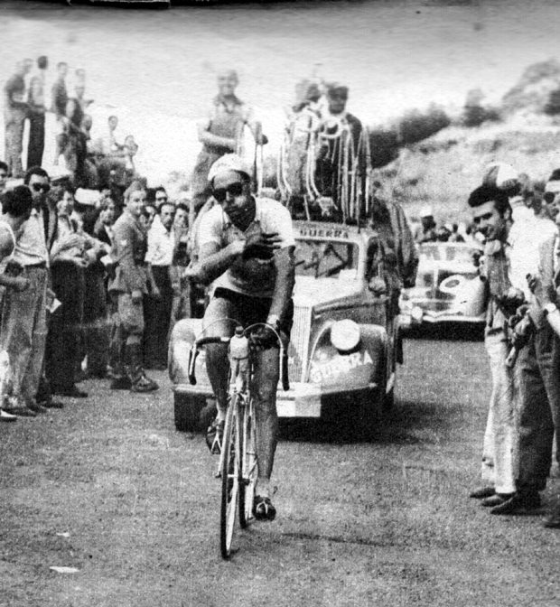 Koblet in the 1950 Giro