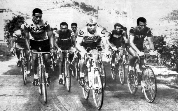 Merckx leads peloton