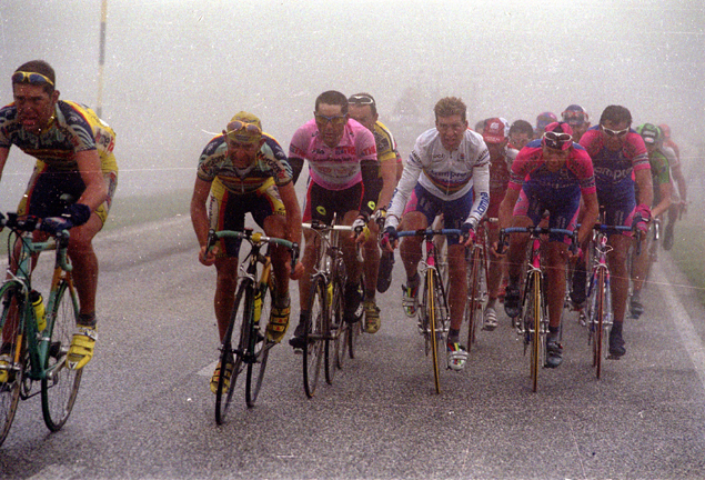 Marco pantani with Laurent Jalabert and Oskar Caminzind