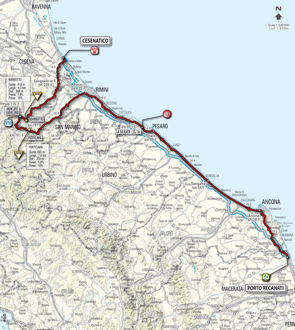 Stage 13 route map