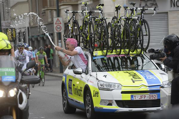 Oleg Tinkoff celebrating