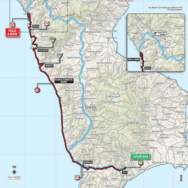 2016 Giro stage 4 map