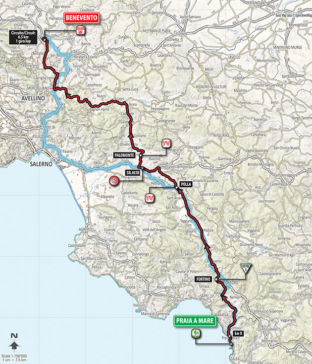 2016 Giro Stage 5 map