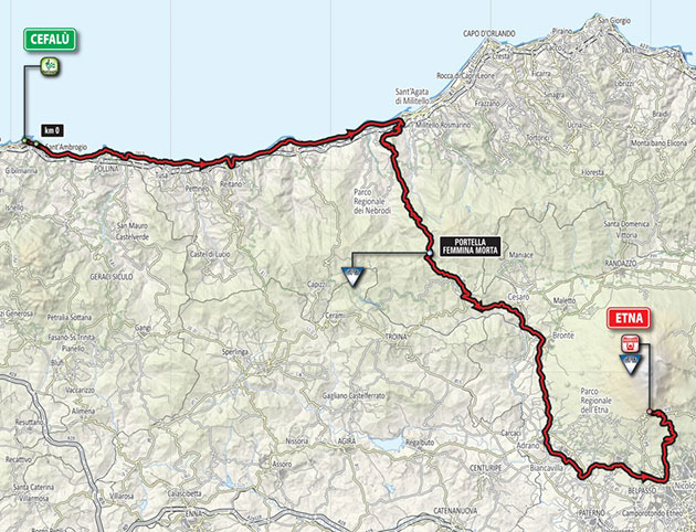 Giro stage 4 map