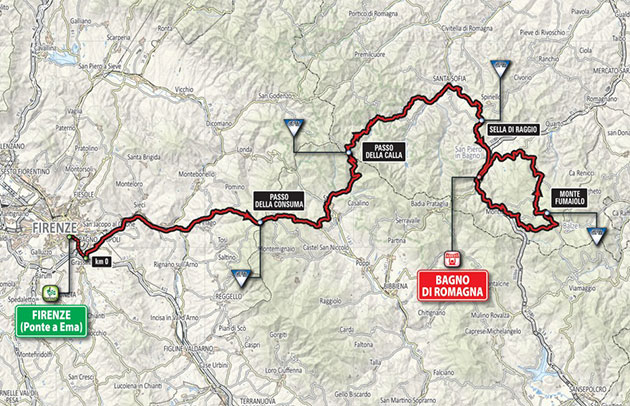 Giro stage 11 map