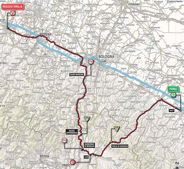 Giro Stage 12 map