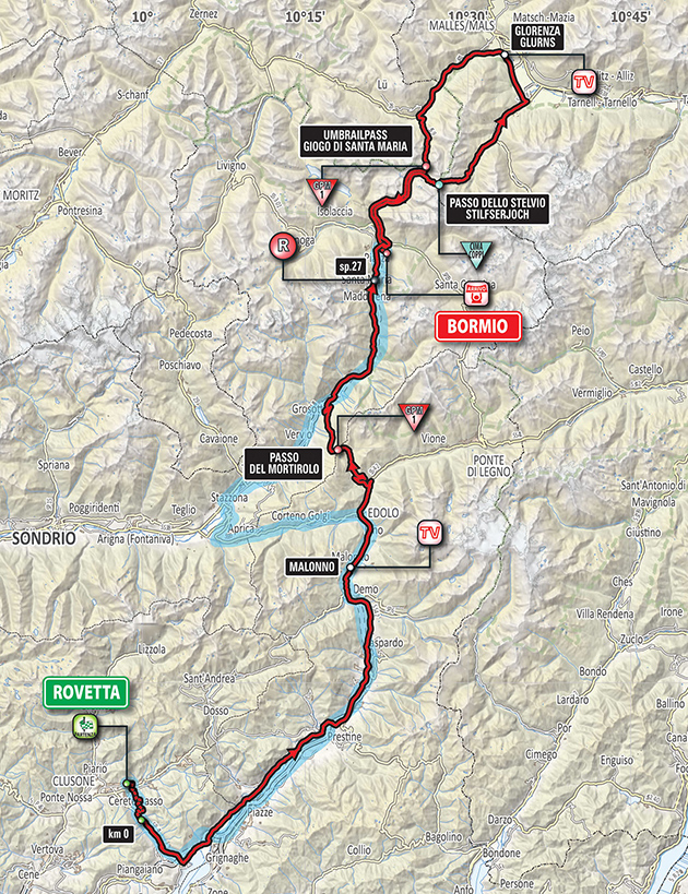 Giro Stage 16 map