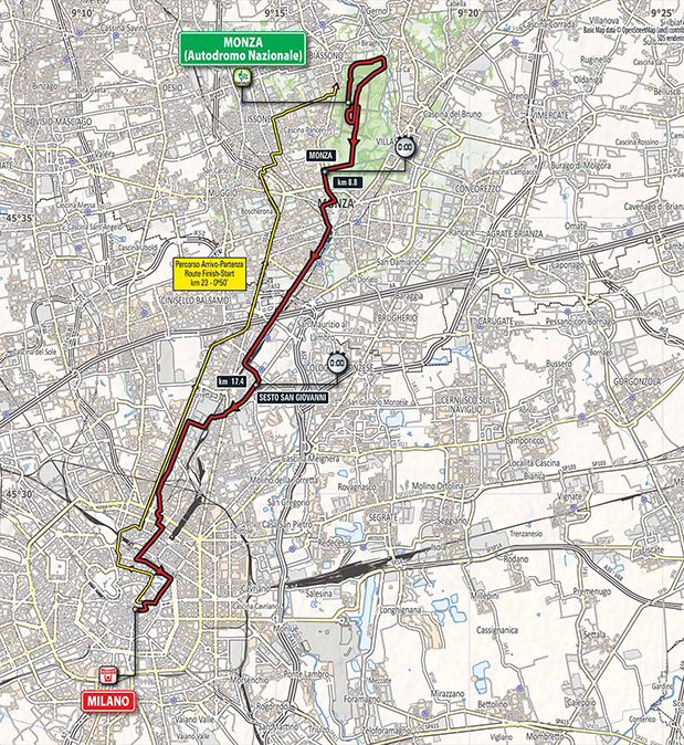 Giro stage 21 map