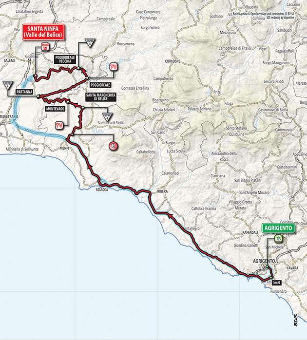 Giro stage 5 map