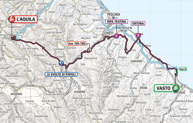 Giro stage 7 map