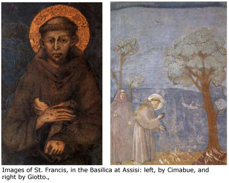 St. Francis, as seen by two artists