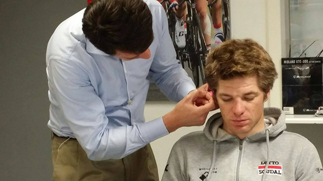 Lotto-Soudal custom earpiece fitting