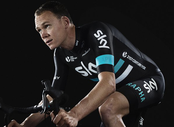 Chris Froome in 2016 Sky kit