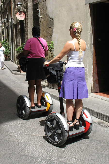 Tourists on Segways