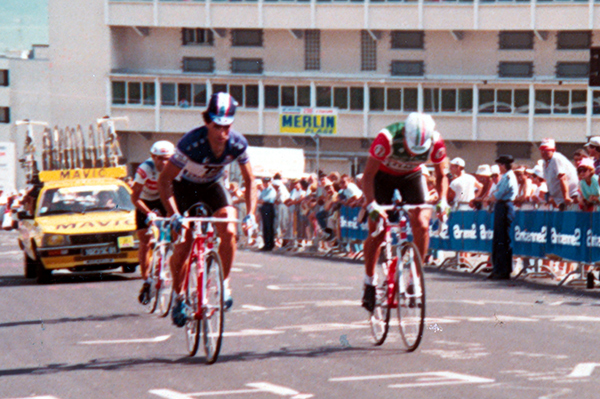 Raul Alcala finishes stage 18 of the 1987 TDF