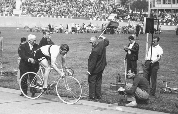 Rudi Altig at the  1960 World Championship pursuit final