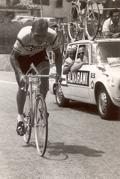 Rudi Altig riding the 1968 Giro d'Italia