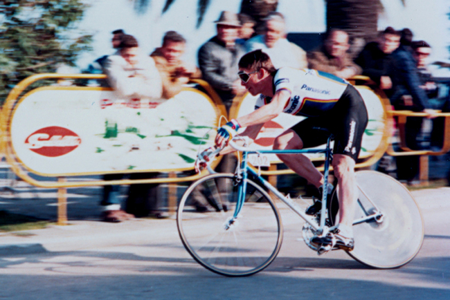 Phil anderson in stage 6 of the 1987 Tirreno-Adriatico